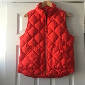 J. Crew Orange Puffer Vest Size Large